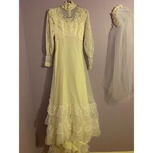 🔥Vintage 1950s Wedding Dress & Veil